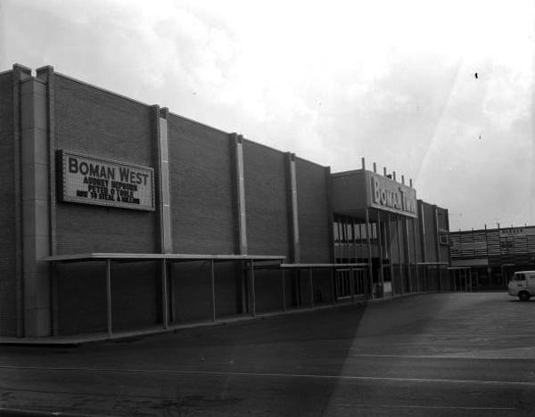 The Boman Twin Theatre opened in 1965.