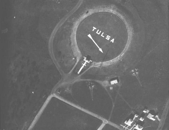 Aerial photo of directional on Old Reservoir Hill in 1927