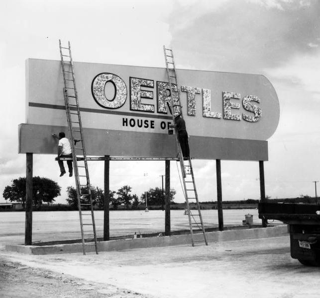 Oertle's sign at Memorial