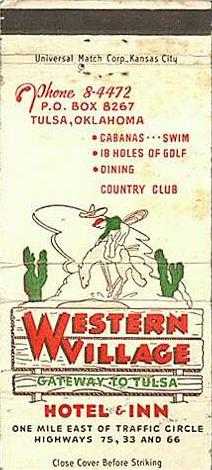 Western Village matchbook