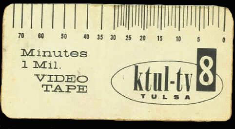 82 minute KTUL tape tab, courtesy of Mike Bruchas