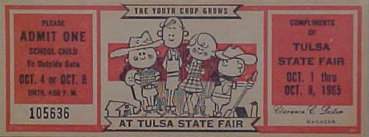 1965 Tulsa State Fair ticket