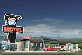 O scale Route 66 motel