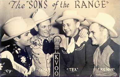 Cy with Tex Harper, George Maras & Kenny McMeins (1946)