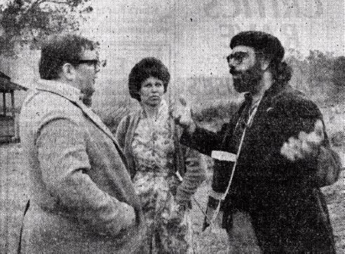 Francis Ford Coppola directs Gailaird Sartain (original photo by Dave Kraus of the Tulsa Tribune)