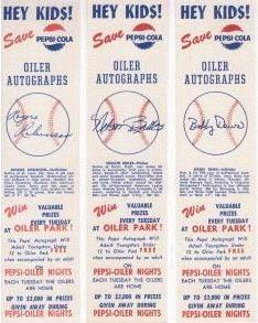 Oiler autographs: Rogers Robinson, Nelson Briles and Bobby Dews