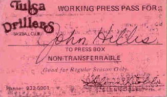 1977 Drillers Press Card, courtesy of John Hillis