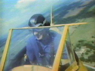 Bob Hower in the biplane