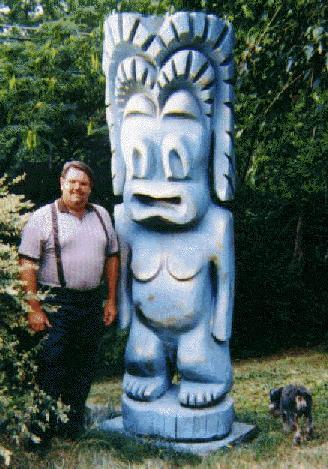 One of the giant Jade East Tikis
