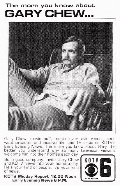 (Circa 1975) KOTV promotions dept sent Dino Economos out to the cottage I was renting from the photographer Bob McCormack to do some promotional shots of me. This is in natural light before a very large window in my living room.