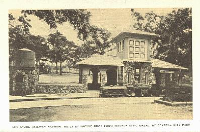 Miniature railway at Crystal City, circa 1927