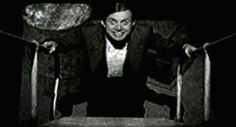 "Renfield (Dwight Frye) at the bottom of the stairs in ""Dracula"", courtesy of Jim Reid"
