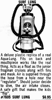 Surf Lung ad from the Central 1960 catalog