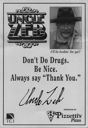 Uncle Zeb autograph