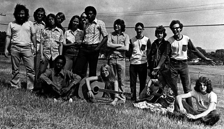 Booker T. Washington video class, Spring 1974, courtesy of Stevo Wolfson