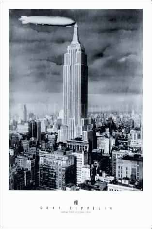 Empire State Building with Graf Zeppelin, 1931