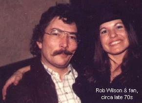Rob Wilson and fan, circa late 70s