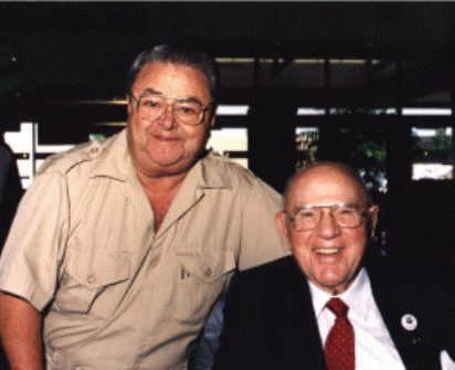 Spanky McFarland and Hal Roach, 1992