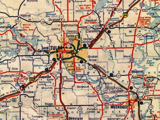 From 1971 Gulf Tourgide Map