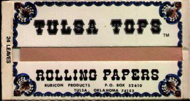 Tulsa Tops rolling papers