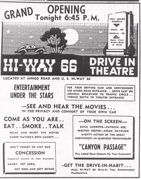 Hi-way 66 opening (courtesy of Wes Horton)
