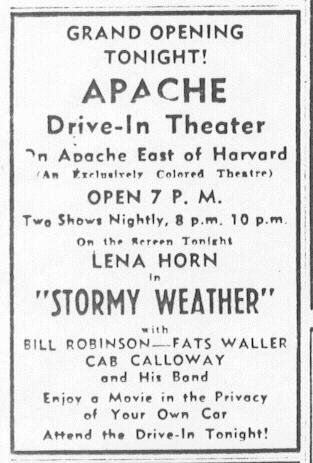 Apache Drive-In (courtesy of Wes Horton)