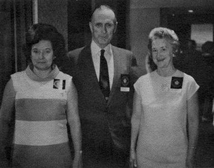 Marjorie Snyder of Family Theatres and Mr & Mrs. Alex Blue preview the KOTV 1968 Color Season