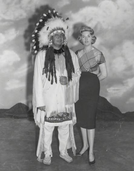 Louise Bland with Shawnee chief