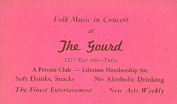 The Gourd club card, courtesy of Joel Burkhart