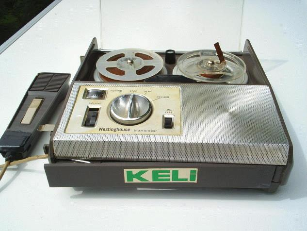 The old reel to reel used by the Kelly News team.