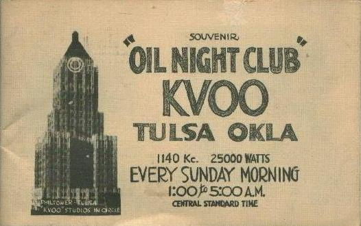 KVOO Oil Night Club, 1938