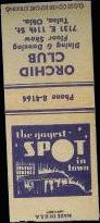 Orchid Club matchbook, courtesy of David Bagsby