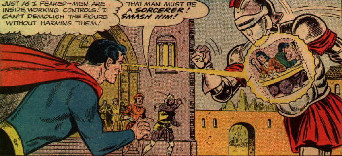 """Silver Age"" Superman uses his X-ray vision in the Renaissance"