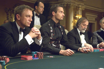 Looking at Le Chiffre across the baize