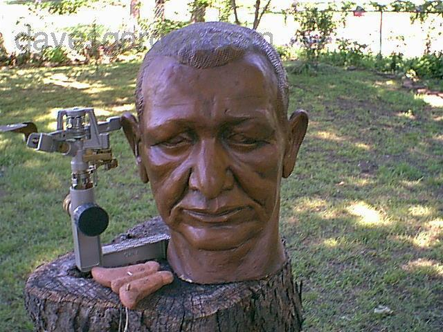 Dick West bust, courtesy of Karen Manasco