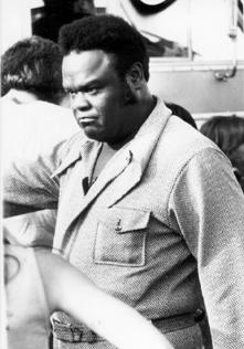 Freddie King backstage at Oiler Park, 1971, courtesy of Steve Todoroff