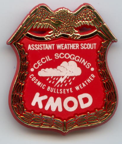 KMOD weather badge