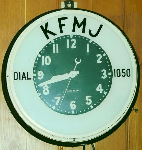 KFMJ Clock, courtesy of John K. Young