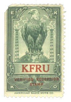 KFRU reception stamp