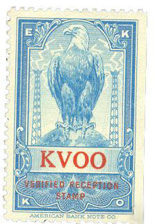 KVOO reception stamp