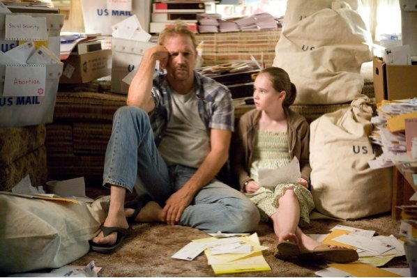 Kevin Costner and Madeline Carroll