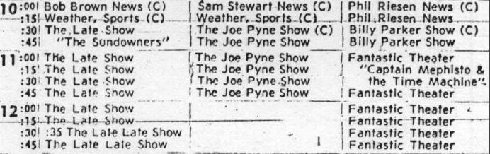 5/11/1968 TV schedule from the Tulsa Tribune