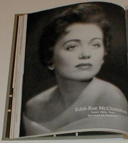 Rue McClanahan in the TU yearbook