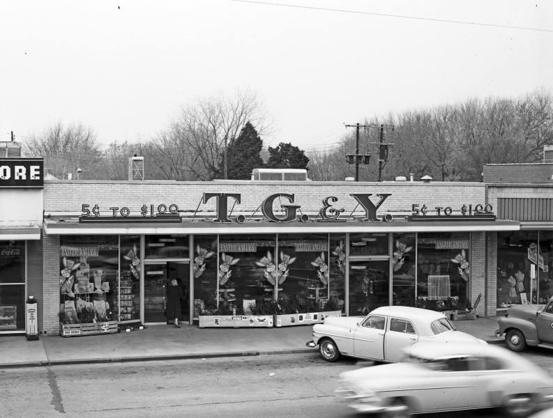 T.G. & Y. on Brookside in 1954, courtesy of the Beryl Ford   Collection/Rotary Club of Tulsa.
