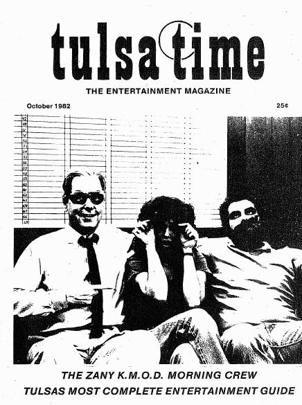 Tulsa Time guide, October 1982, courtesy of Roy Payton