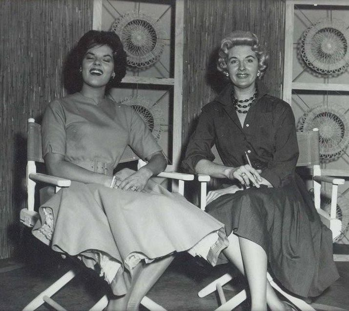 Anita Bryant on Louise Bland's set.