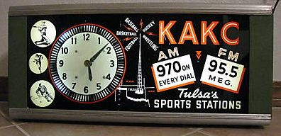 KAKC sports spinner clock on eBay