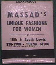 Massad's matchbook cover from eBay