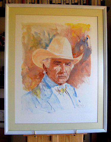 Portrait of Morgan Woodward for the Cowboy Hall of Fame by Buck Taylor