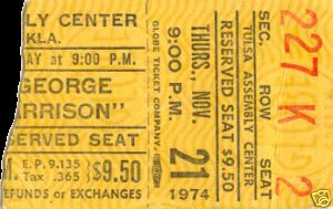 Ticket from the show